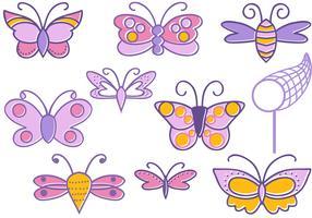 Free Doodle Butterflies Vectors