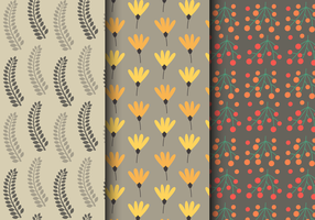 Free Autumn Floral Pattern