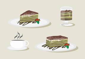 Sweetness Tiramisu Vector Set
