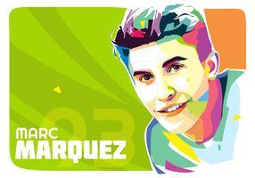 Marc Marquez Vector Popart Portrait