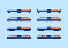 Flat Icon Long Police Lights Free Vector