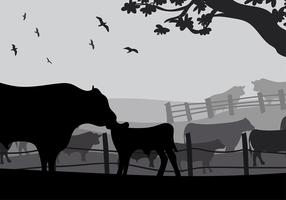 Angus Cow Silhouette Free Vector