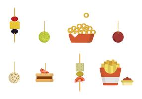 Flat Appetizer Vectors