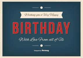 Typographic Happy Birthday Illustration