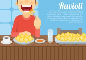 Ravioli Vector Background
