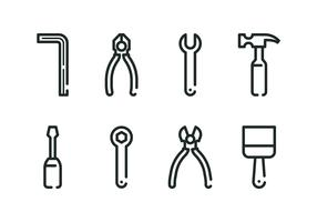 Allen Key And Tools Icon Set