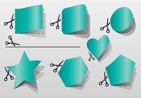 Cut Here Geometry Shape Vectors