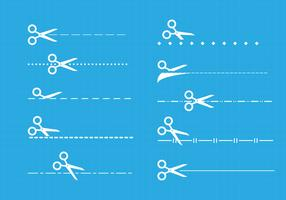 Cut here icons vector