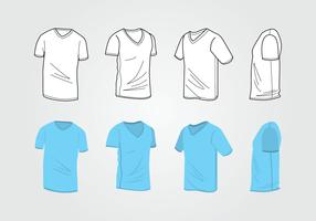 Man V Neck Shirt Template