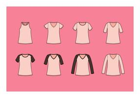 Free V-Neck Shirt Vector Collection