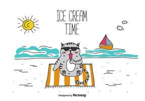 Ice Cream Time Vector