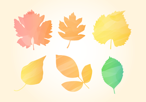 Free Watercolor Autumn Leaves