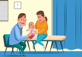 Child's Pediatrician Vector