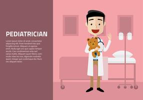 Pediatrician with Doll Free Vector