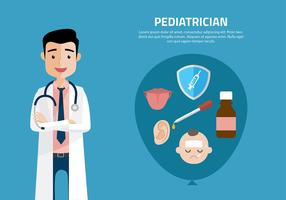 Pediatrician Cartoon Free Vector