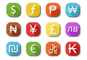 Free Currency Icons Vector