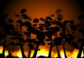 Burning Forest Free Vector