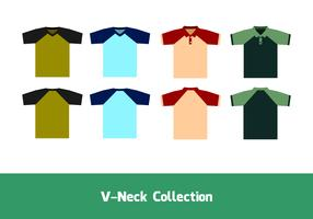V-Neck Raglan Free Vector