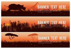 Burning Bush Web Banner Pack Vector