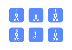 Scissors and Dotted Line Vectors