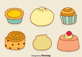 Hand Drawn Appetizers Collection Vector