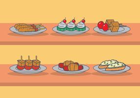 Appetizers vector set