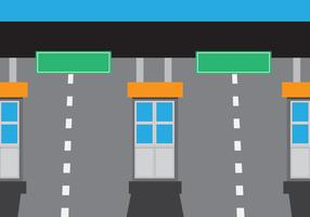 Simple Toll Booth Station Vector