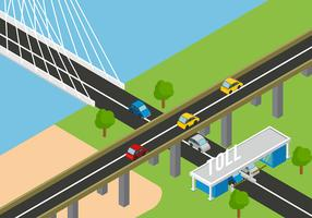 Toll Isometric Free Vector