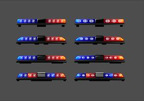 Long Police Lights Free Vector