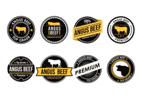 Angus Beef Labels Vector