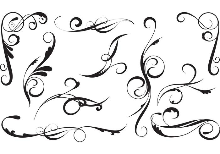 Elegant Vector Swirls Pack
