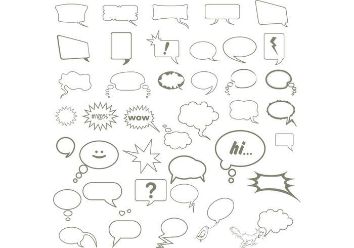 Speech Bubble Vectors