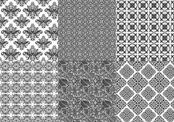 Seamless Baroque Illustrator Patterns