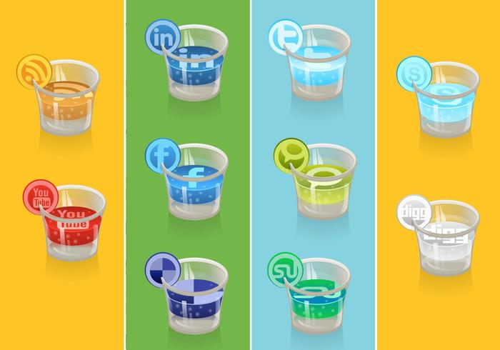 Social Icon Vector Drink Pack