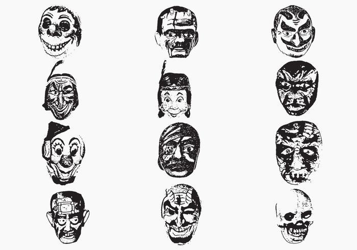 Weird Mask Vector Pack One