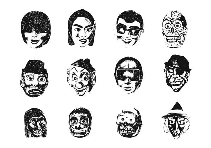 Weird Mask Vector Pack Two