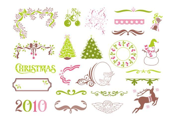 Ensemble d'éléments vectoriels de Noël