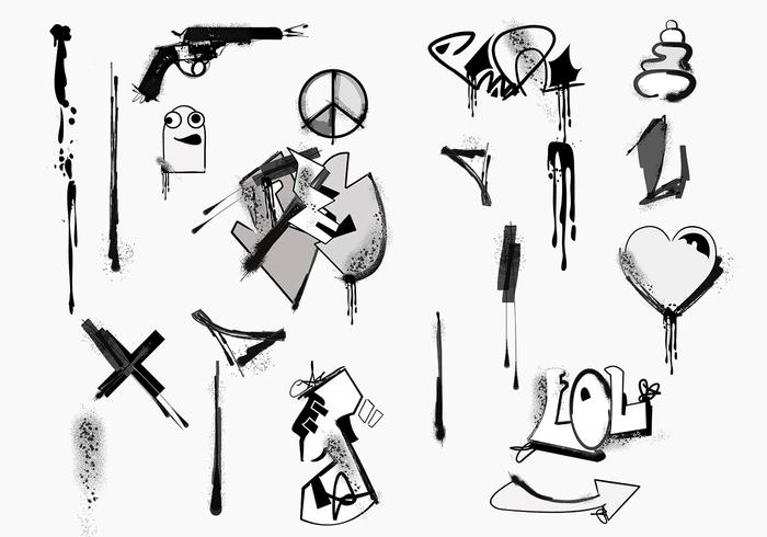 Graffiti Vector Element Pack Download Free Vector Art Stock Graphics Images