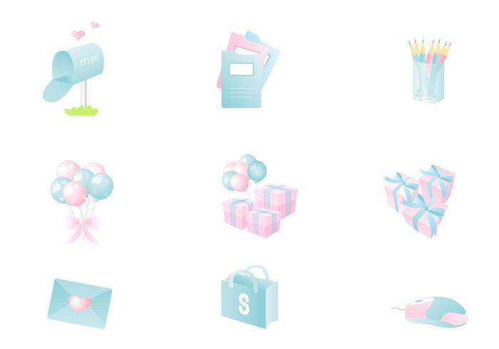 Pastel Icon Vector Pack