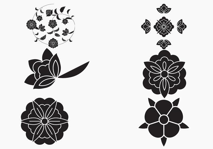 Fancy Flowers Vector Pack