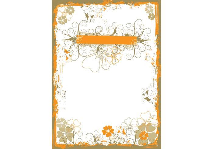 Grungy Floral Wallpaper Vector
