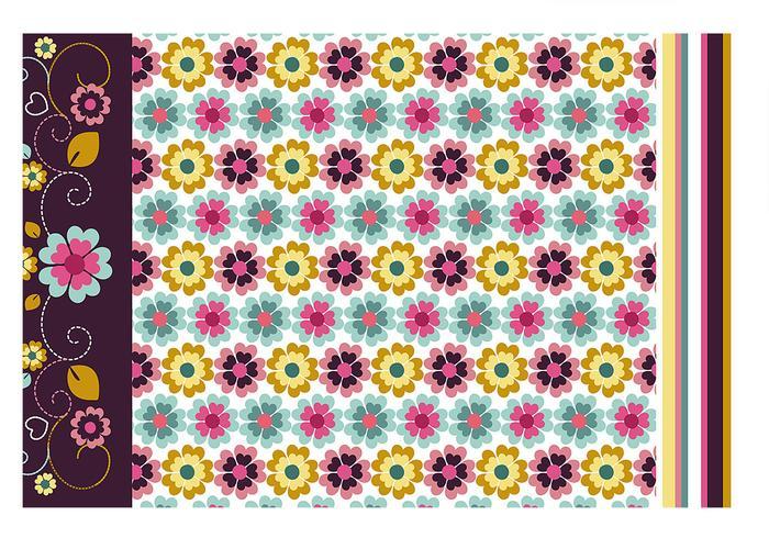 Bloemen behang en patroon vector pack