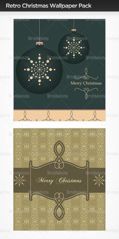 Retro Christmas Wallpaper Pack