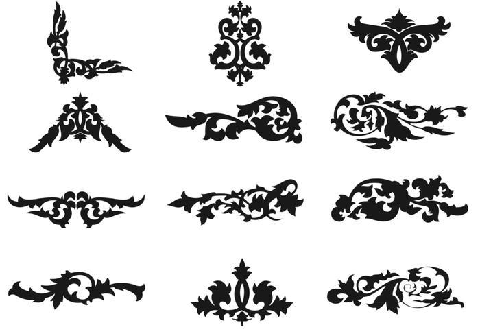 decorative floral ornament vectors download free vector