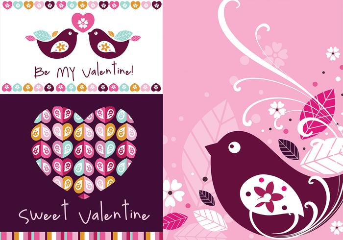 Wallpaper Vector - Sweet Valentine Wallpaper Pack