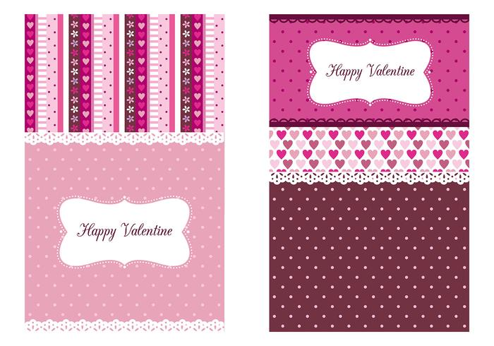 Valentine's Day Wallpaper Vector Tri - Pack