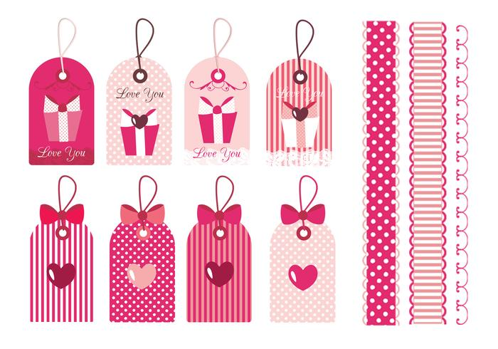 Valentine's Day Tag & Border Vector Pack