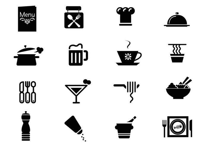 Restaurant Icon Vector Pack