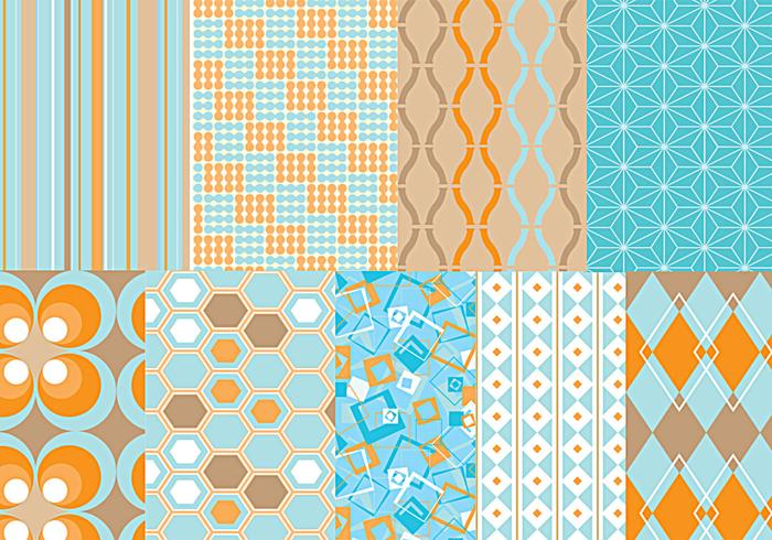 Funky Retro Vector Pattern Pack