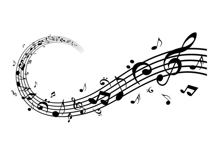 Moderne muziek notities vector pack